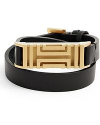 Tory Burch For Fitbit Leather Wrap Bracelet - Lyst