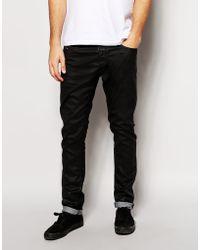 Diesel Jeans Tepphar Skinny Fit 663Q Stretch Black Coated - Lyst