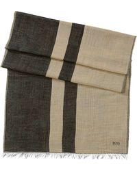 BOSS | 'puntolo' | Cotton Bend Striped Scarf | Lyst