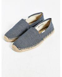 Soludos Denim Stripe Slip-On Shoe - Lyst