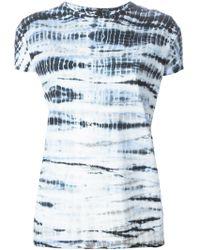 Proenza Schouler Tie Dye Print T-Shirt - Lyst