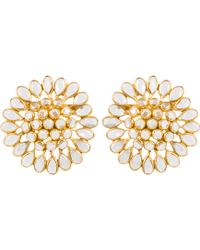 Kastur Jewels - Crystal Slice Large Stud Earrings - Lyst