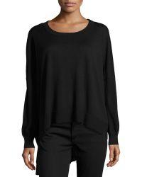 Michael Kors High-Low Knit Sweater - Lyst