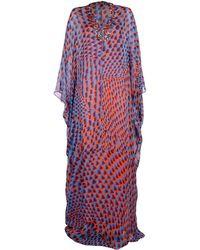 Issa Blue Long Dress - Lyst