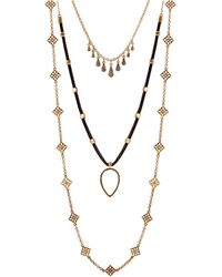 Lucky Brand - Gifting Lucky Layers Triple Necklace - Lyst