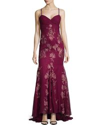 Mandalay Sleeveless Beadedtop Gown - Lyst