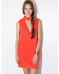Pixie Market Cameo Coral Say It Right Dress pink - Lyst