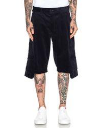 Comme des Garçons Men'S Cotton Corduroy Shorts blue - Lyst