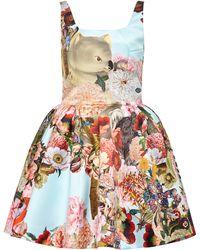Mary Katrantzou Tivolio Printed Short Dress - Lyst