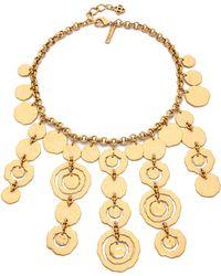 Oscar de la Renta Circle Necklace - Russian Gold - Lyst