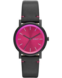 DKNY Soho Black Plated Watch with Sunray Dial - Lyst