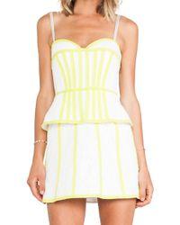 BCBGMAXAZRIA Strapless Dress - Lyst