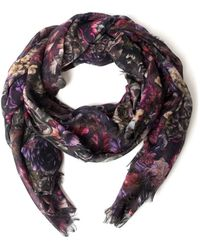 Valentino Pink Floral Scarf - Lyst