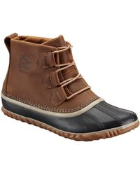 Sorel Out N' About Leather Duck Boots - Brown