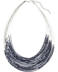 H&M Multistrand Necklace gray - Lyst