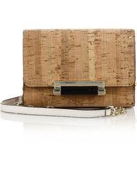Diane von Furstenberg 440 Micro Mini Metallic Cork Shoulder Bag - Lyst