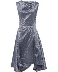 Vivienne Westwood Anglomania Metallic Aztek Floral Dress - Lyst