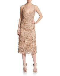 Valentino Embellished Lace Dress - Lyst
