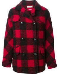 Etoile Isabel Marant Red Gael Coat - Lyst
