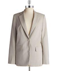 Jones New York Single Button Blazer gray - Lyst