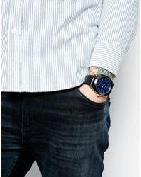 Ben Sherman Black Leather Look Strap Watch Bs044 - Lyst