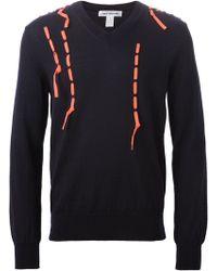 Comme des Garçons Lace Detail Sweater - Lyst