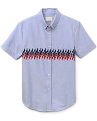 Band of Outsiders Zigzag Panel Shirt - Lyst