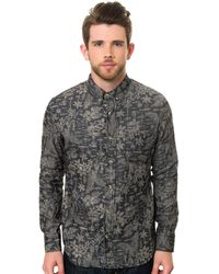 Reason The Chambray Floral Ls Buttondown Shirt - Lyst