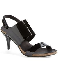 Pedro Garcia 'Willy' Patent Leather Sandal - Lyst
