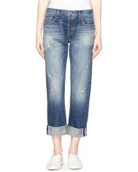 J Brand 'Sonny' Mid Rise Boyfriend Jeans blue - Lyst