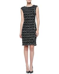 St. John Multi Peak Knit Bateau-neck Dress - Lyst