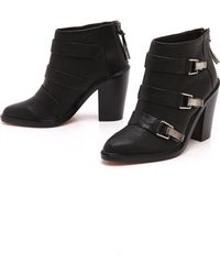 L.A.M.B. - Toby Buckle Booties Black - Lyst
