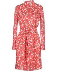 Tory Burch Cora Printed Silk Crepe De Chine Mini Dress red - Lyst