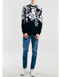 LAC - Monochrome Floral Print Sweatshirt - Lyst