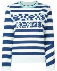 Kenzo 'Paris ' Striped Sweatshirt - Lyst