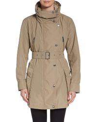 Burberry Brit Churchmore Funnel Neck Trench Coat - Lyst