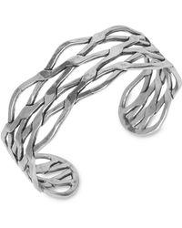 Lucky Brand Silvertone Twisted Cuff Bracelet - Metallic