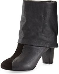 See By Chloé Cuffed Leather Bootie Black 355b55b - Lyst