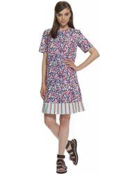 Suno Pleated Hem Mini Dress - Lyst