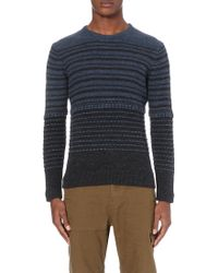 Outerknown - Striped Knitted Jumper - Lyst