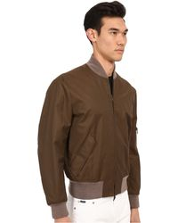 Marc Jacobs Technical Twill Bomber Jacket - Green