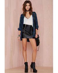 Nasty Gal Sin City Vegan Leather Moto Skirt - Lyst