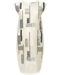 By Malene Birger Shimmery Sequin Panel Dress silver - Lyst