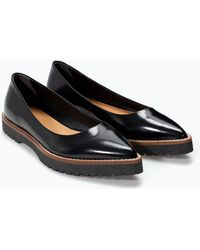 Zara Track Sole Ballet Flat - Lyst