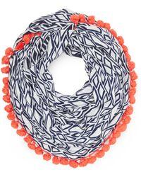 Diane von Furstenberg Circle Tassle Scarf - Lyst