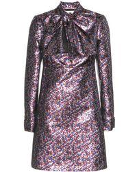 Saint Laurent Metallic Dress - Lyst