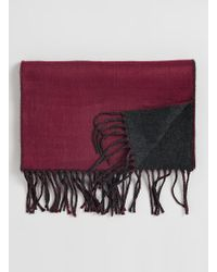Topman Burgundy and Charcoal Scarf - Lyst