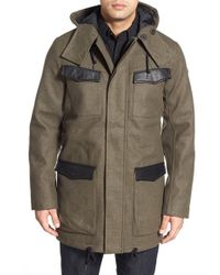 Victorinox - 'gallen' Hooded Longline Coat - Lyst