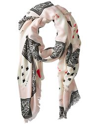 Kate Spade Playing Cards Scarf - Lyst