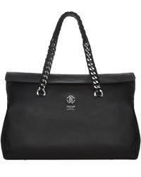 Roberto Cavalli Woven Chain Tote Bag - Lyst